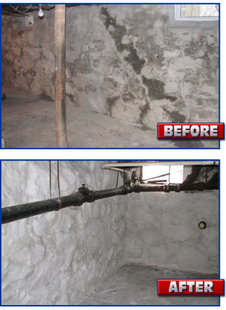 Basement Restoration Before & After
