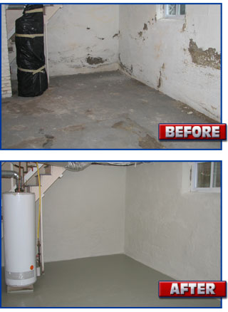 concrete floor coating spalling concrete basement sealing